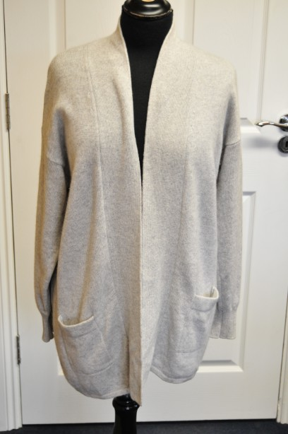 Women's The Cashmere Centre Grey Cardigan size M BNWT