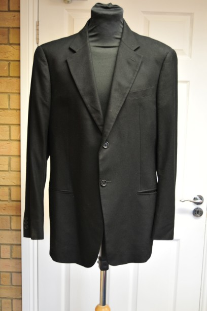 Men's Armani Collezioni Black Bamboo Blazer Size 54 Regular