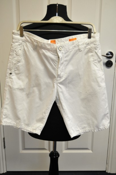 Men's Hugo Boss Orange White Slim Fit Cotton Shorts size UK 50