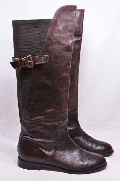 Women's Beatrix Ong Jefferson Brown Leather Riding Boots size 41​
