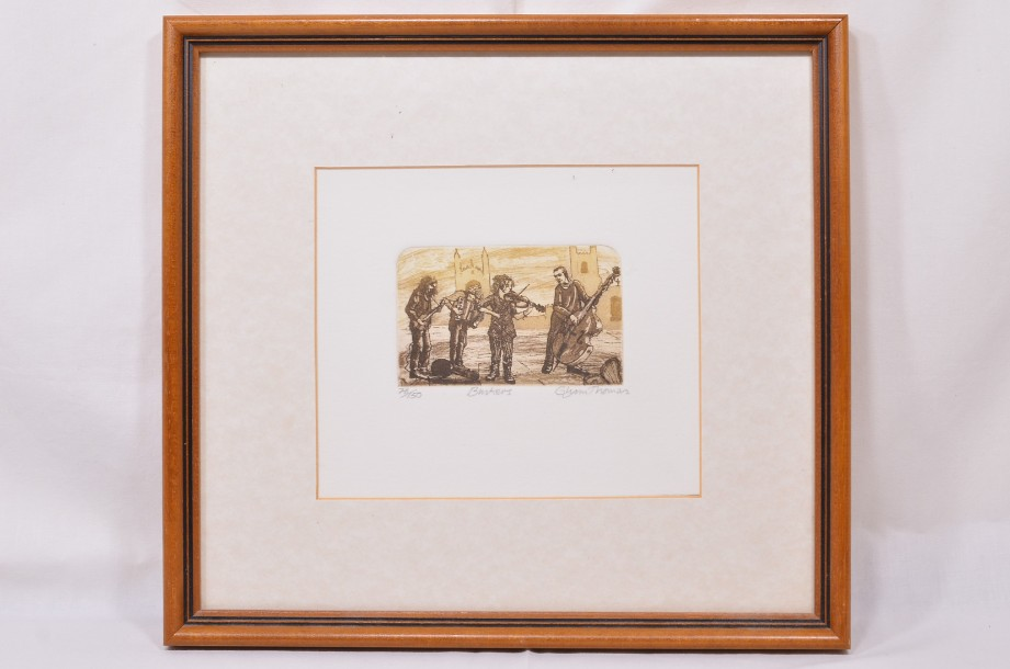 Glynn Thomas  'Buskers' Framed Limited Edition Art Print