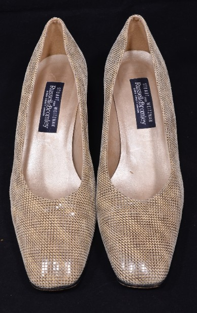 Smart Ladies Leather Russell & Bromley Court Shoes size 9.5/uk 7.5 4