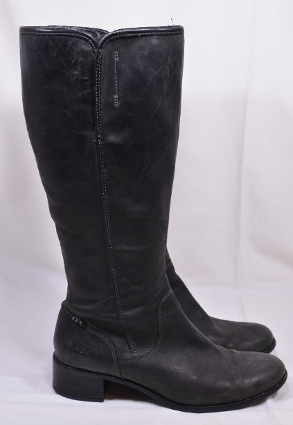 Women's Timberland Ladies Grey/Black Leather Boots size 40/UK 7