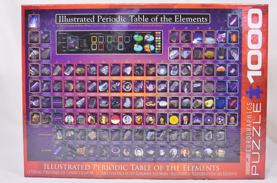 Eurographics Illustrated Periodic Table of the Elements puzzle
