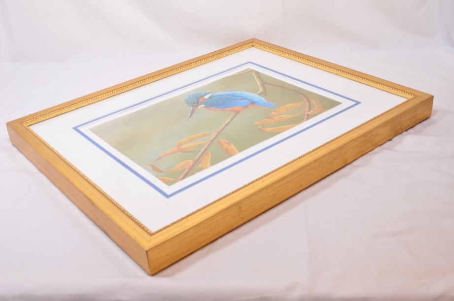 Kingfisher on Willow - Limited Edition Framed Print by Robert E Fuller 3