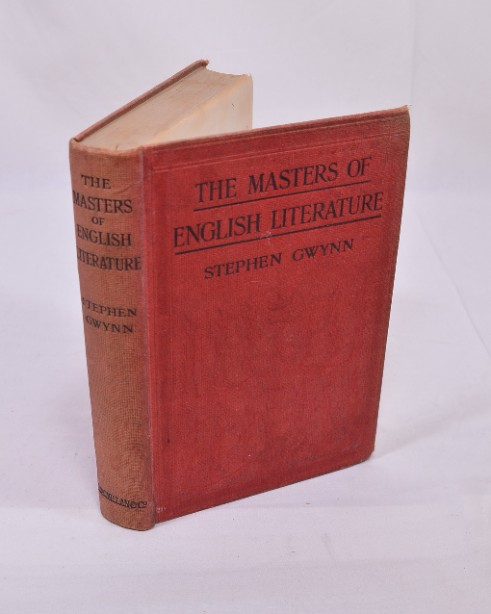 The Masters of English Literature Stephen Gwynn