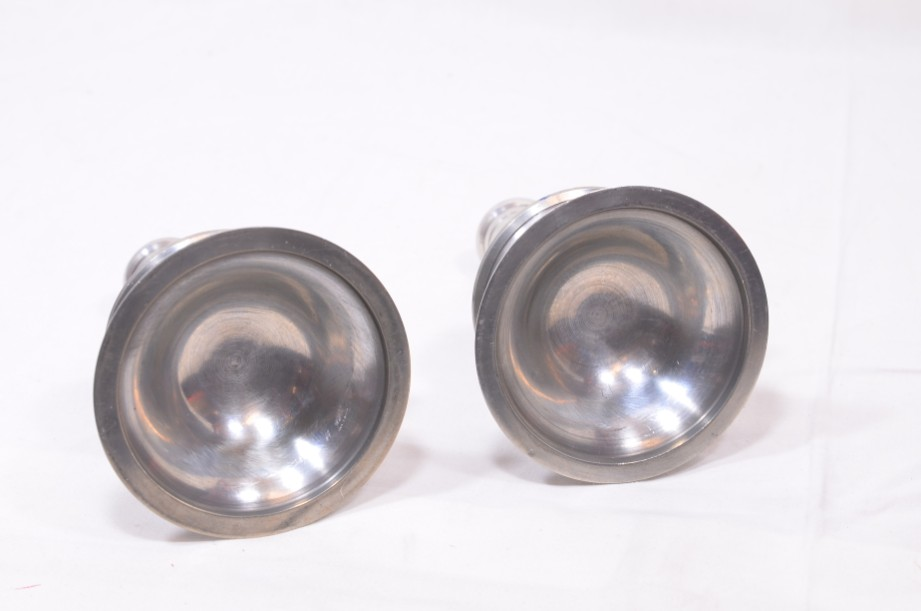 Pair of Pewter Capstan Style Candlesticks 3