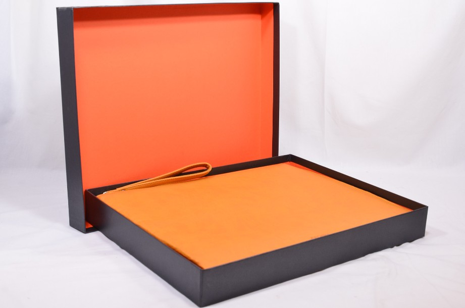 Fedon Leatherette Pochette for documents and tablet in orange 7
