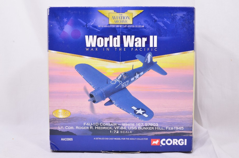 1:72 Corgi The Aviation Collection F4U-1D Corsair AA33005