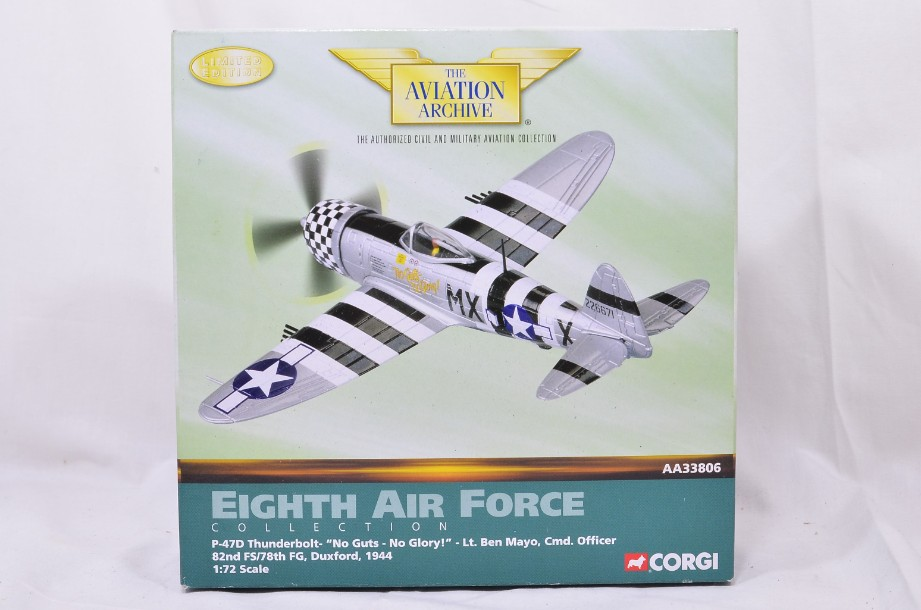 "1:72 Corgi The Aviation Archive P47D Thunderbolt ""No Guts - No Glory!"" AA33806"