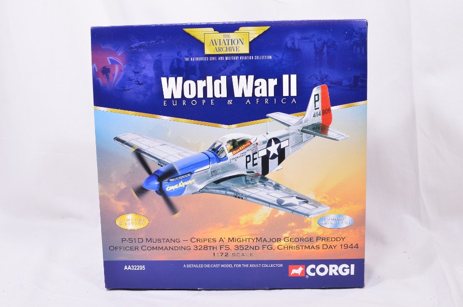 1:72 Corgi The Aviation Archive P51D Mustang - Cripes A' Mighty AA32205