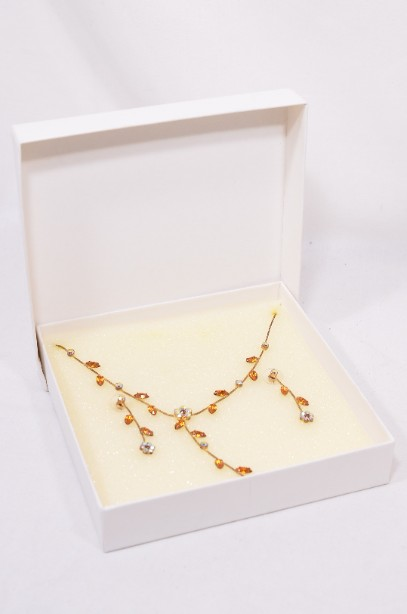 Jon Richard boxed necklace and earrings