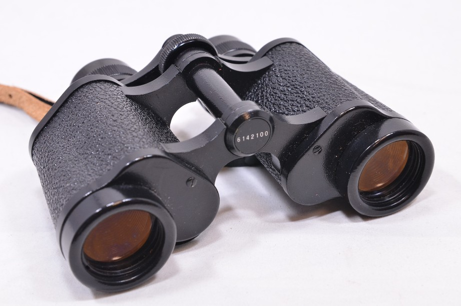 Carl Zeiss Jena Jenoptem 8x30w binoculars in brown case - vintage