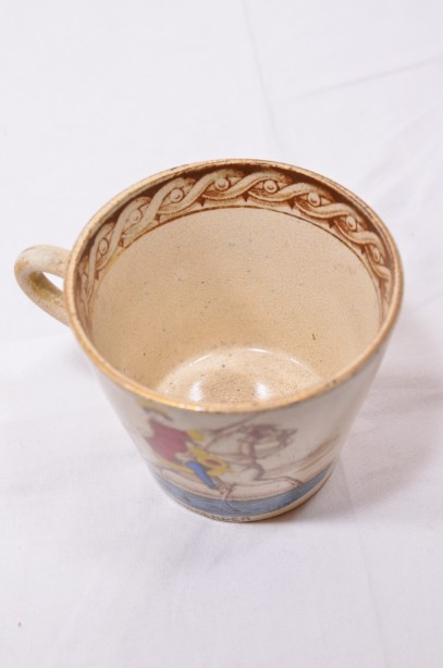 William III of Orange political 'No Surrender' cup, saucer and plate trio 7
