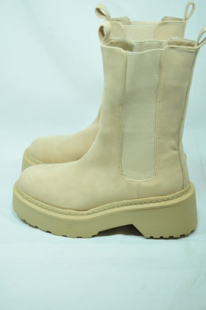 Missguided Sand Pull- on Boots Size 38 2