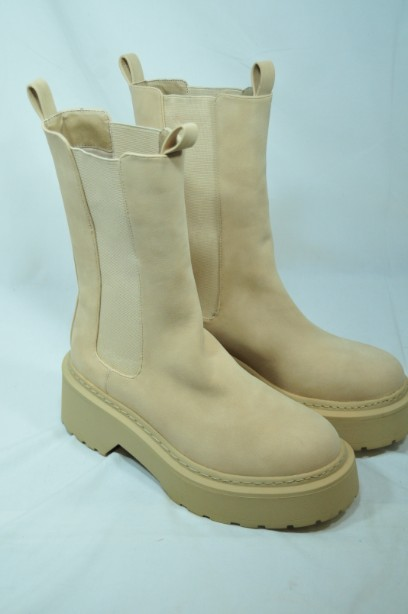 Missguided Sand Pull- on Boots Size 38 7