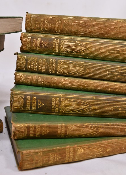 Collection of 14 Charles Dickens Leather Bound Books 1905 4