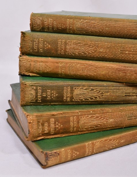 Collection of 14 Charles Dickens Leather Bound Books 1905 5