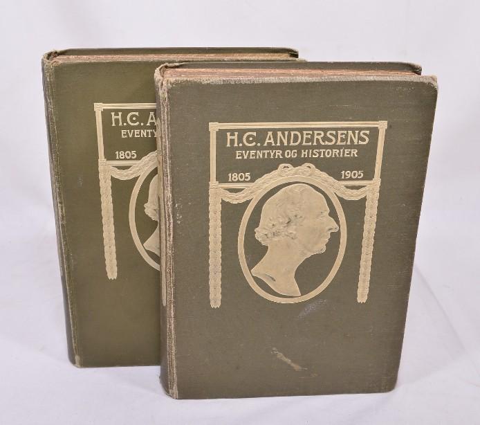 Rare H.C. Andersens Eventyr Og Historier' Volumes 1&2 1905 [Danish]