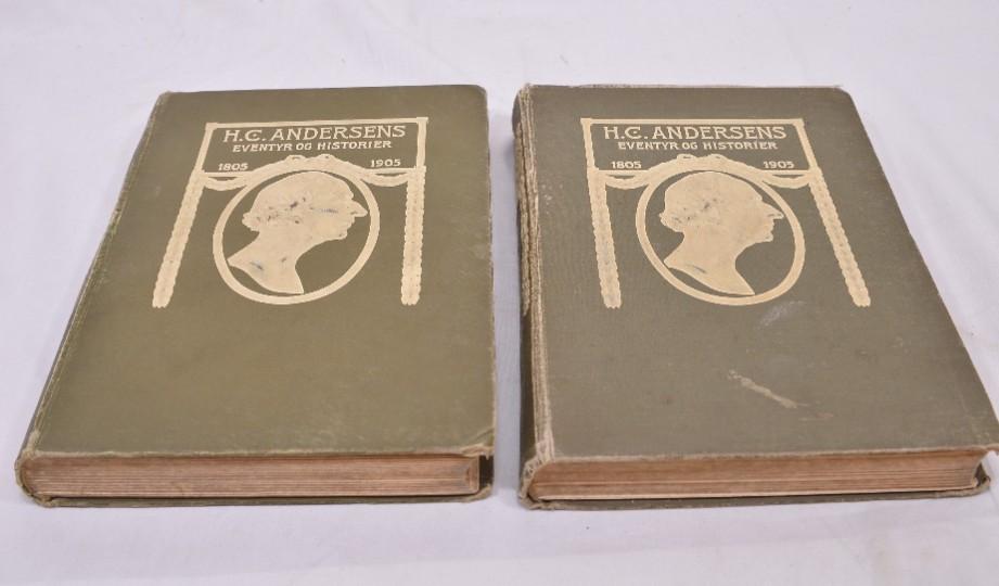 Rare H.C. Andersens Eventyr Og Historier' Volumes 1&2 1905 [Danish] 2