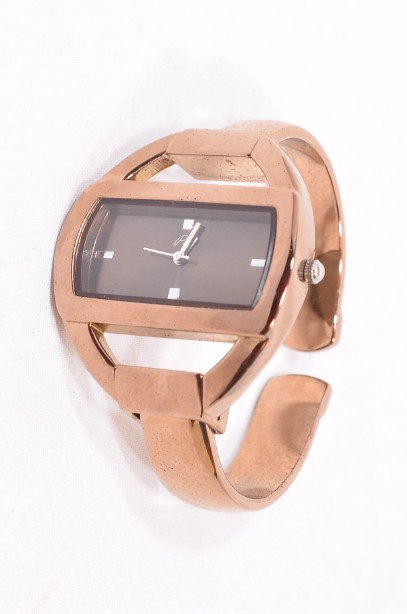 Pia Bangle Watch in Rose Gold Colour Boxed 1