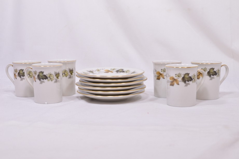 Royal Doulton Larchmont six-cup coffee can and saucer set 3