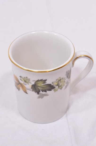 Royal Doulton Larchmont six-cup coffee can and saucer set 4