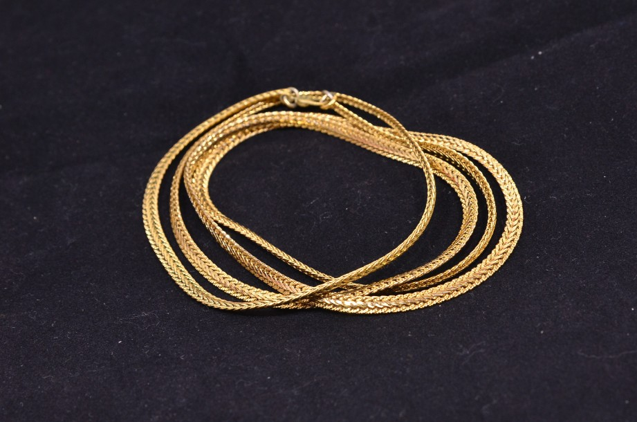 Gold Coloured Chain Necklace