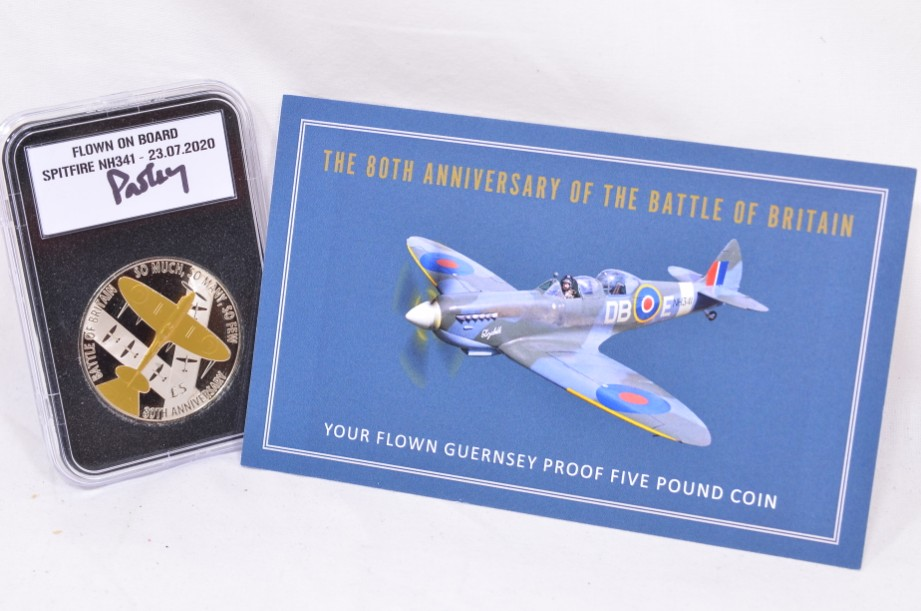 Guernsey 2020 Battle of Britain 80th Anniversary Spitfire £5 Collectable Coin