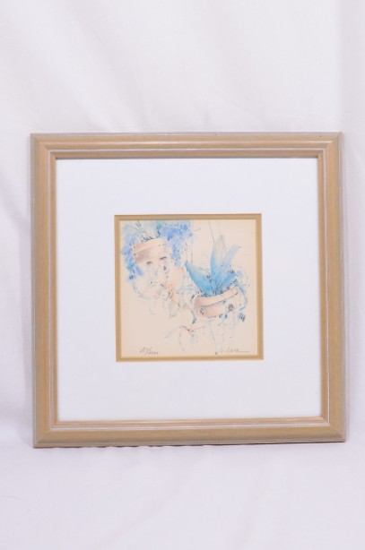 4 Framed and Signed Limited Edition Watercolour Prints by Clara Hung Mei Yee 2