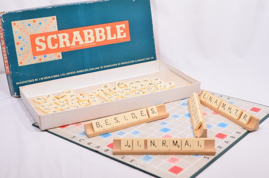 Vintage 1955 Scrabble Board Game by Spears