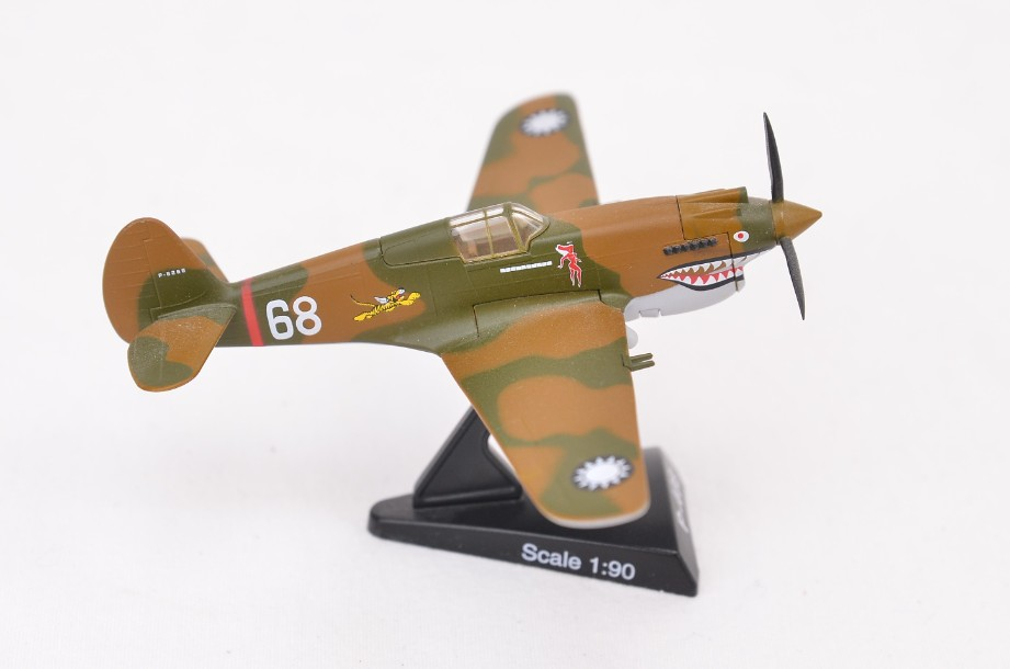 1/90 Model Power Postage Stamp Planes Hell's Angles SQ Curtis P-40B #5354-1