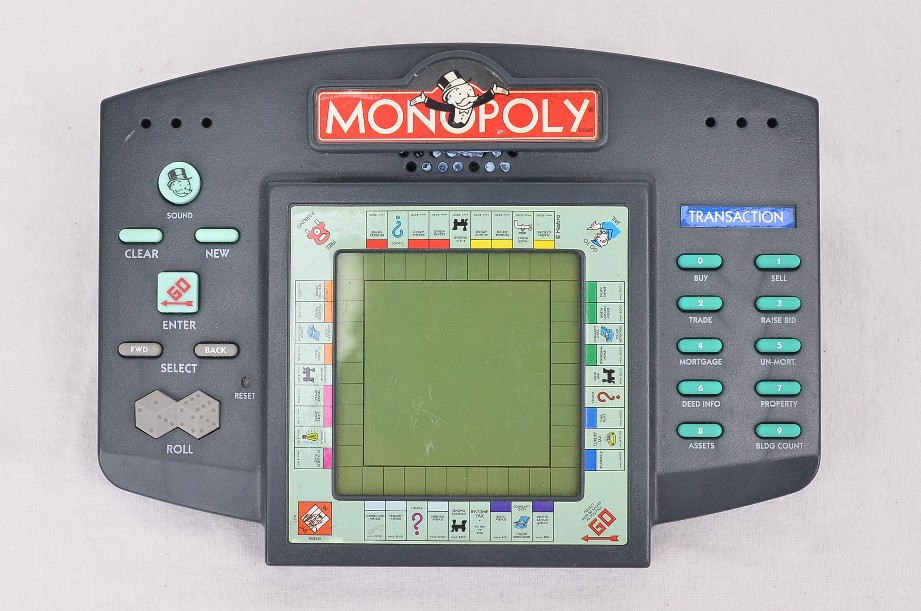 Vintage Handheld Monopoly Electronic Board Game By Hasbro (1999) Portable Tested