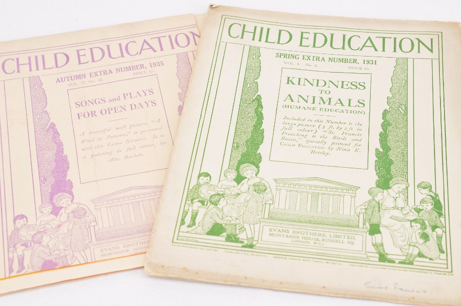 Vintage 1930s Child Education Fold Out Wall Posters - 2 No