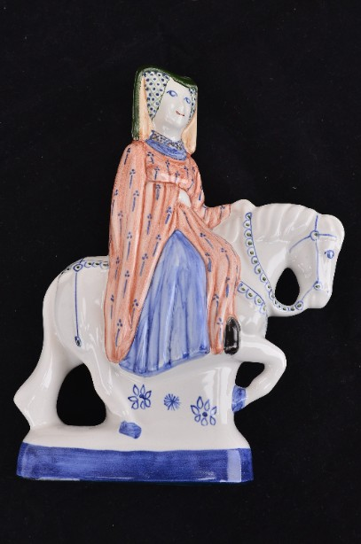 Rye Pottery Hand Painted Canterbury Tales 'The Guildsman's Wife' Figurine - 2001