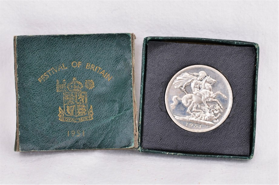 Festival of Britain 1951 Five Shillings Crown Piece Coin