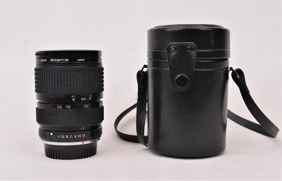 Tokina 28-85mm f/3.5 Pentax-fit Lens, with leather case and Skylight filter